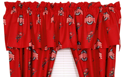 Ohio State Printed Curtain Valance - 84 x 15 - OHICVL by College Covers - Peazz.com