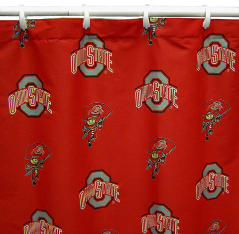 "Ohio State Printed Shower Curtain Cover 70"" X 72"" - OHISC by College Covers - Peazz.com"