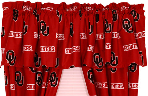 Oklahoma Printed Curtain Valance - 84 x 15 - OKLCVL by College Covers - Peazz.com