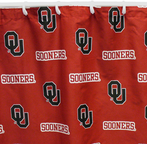 "Oklahoma Printed Shower Curtain Cover 70"" X 72"" - OKLSC by College Covers - Peazz.com"