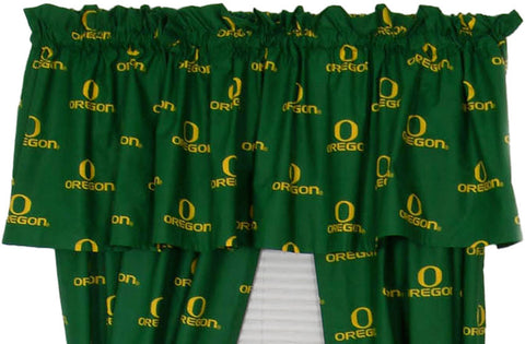 Oregon Printed Curtain Valance - 84 x 15 - ORECVL by College Covers - Peazz.com