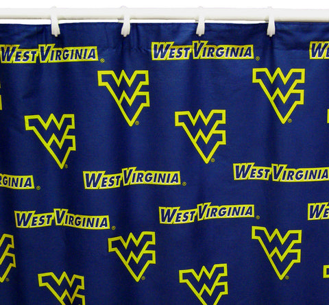 "West Virginia  Printed Shower Curtain Cover 70"" X 72"" - WVASC by College Covers - Peazz.com"