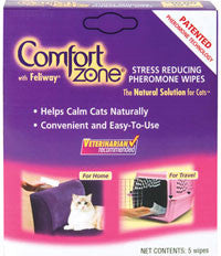 Comfort Zone with Feliway Wipes, 5 Count - Peazz.com