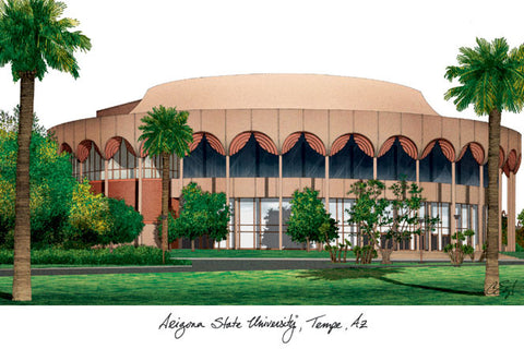 Arizona State University Campus Images Lithograph Print - Peazz.com