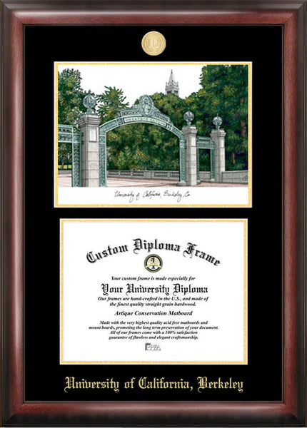 University Of California Berkeley Gold Embossed Diploma