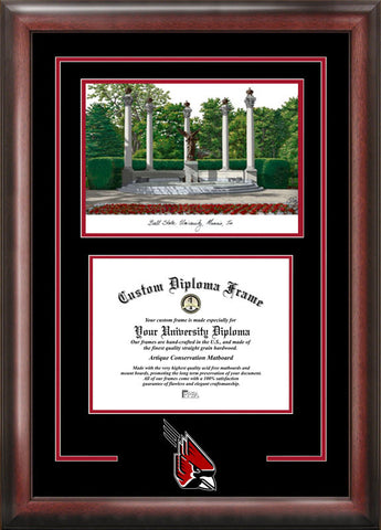 Ball State University Spirit Graduate Frame with Campus Image - Peazz.com