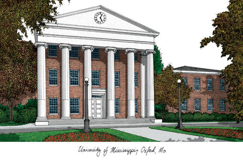 University of Mississippi Campus Images Lithograph Print - Peazz.com