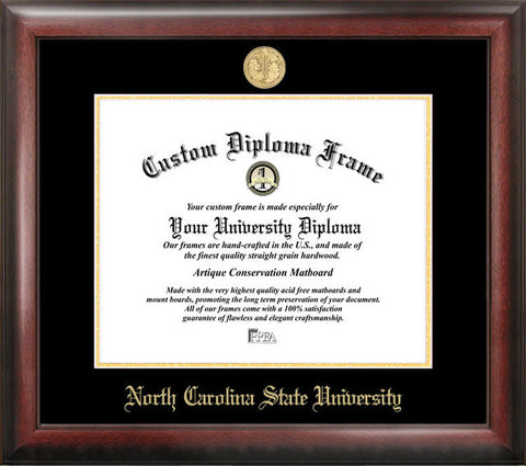North Carolina State University Gold Embossed Diploma Frame - Peazz.com