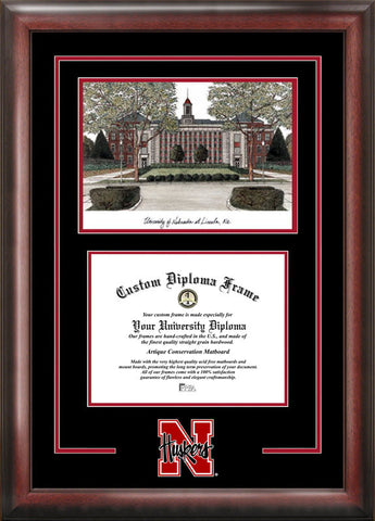 University of Nebraska Spirit Graduate Frame with Campus Image - Peazz.com
