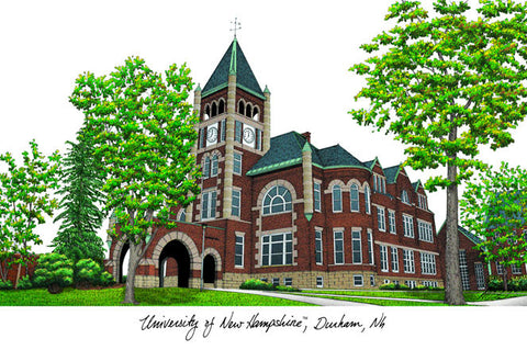 University of New Hampshire Campus Images Lithograph Print - Peazz.com