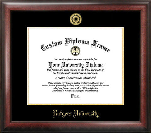 Rutgers Gold Embossed Diploma Frame - Peazz.com