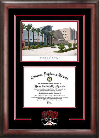 University of Nevada ,Las Vegas Spirit Graduate Frame with Campus Image - Peazz.com