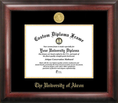 University of Akron Gold Embossed Diploma Frame - Peazz.com