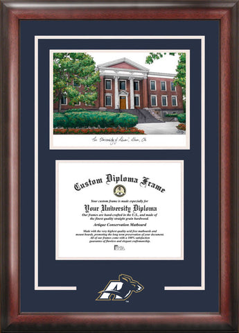 University of Akron Spirit Graduate Frame with Campus Image - Peazz.com