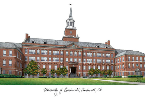 University of Cincinnati Campus Images Lithograph Print - Peazz.com