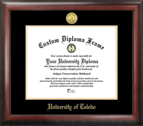 University of Toledo Gold Embossed Diploma Frame - Peazz.com