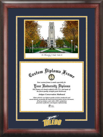 University of Toledo Spirit Graduate Frame with Campus Image - Peazz.com