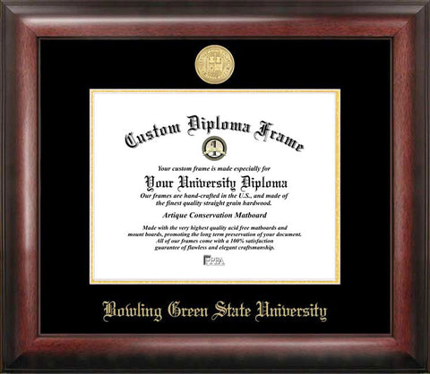Bowling Green State Gold Embossed Diploma Frame - Peazz.com
