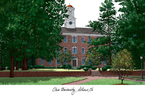 Ohio University Campus Images Lithograph Print - Peazz.com