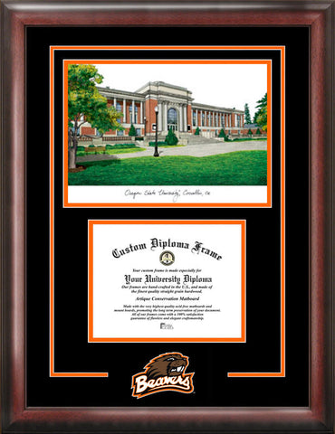 Oregon State University Spirit Graduate Frame with Campus Image - Peazz.com