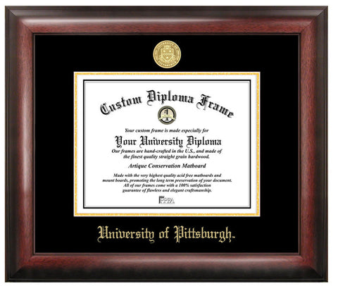 University of PittsburghGold Embossed Diploma Frame - Peazz.com