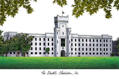 The Citadel Campus Images Lithograph Print - Peazz.com