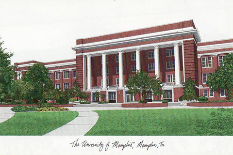 University of Memphis Campus Images Lithograph Print - Peazz.com