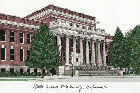 Middle Tennesse State Campus Images Lithograph Print - Peazz.com