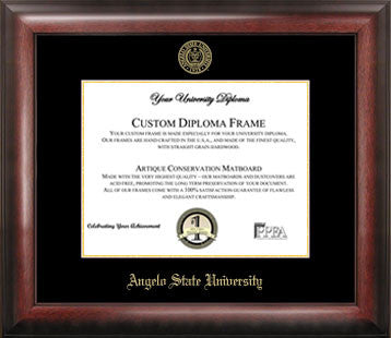 Angelo State University Gold Embossed Diploma Frame - Peazz.com