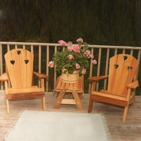 Creekvine Design WRF5100CHSETCVD Cedar Country Hearts Adirondack Chair Collection - Peazz.com