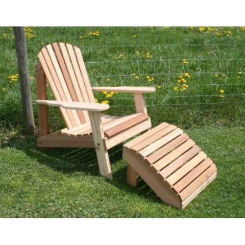 Creekvine Design WRF526200CVD Cedar American Forest Adirondack Chair & Footrest Set - Peazz.com