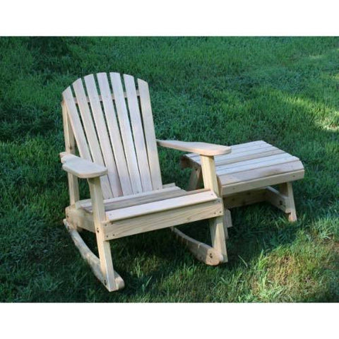 Creekvine Design WRFKEYRSETCVD Cedar American Forest Adirondack Rocker & Side Table Set - Peazz.com