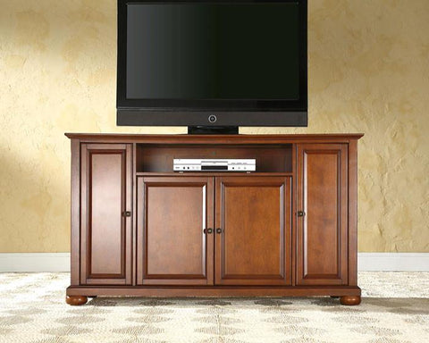 "Bayden Hill KF10001ACH Alexandria 60"" TV Stand in Classic Cherry Finish - Peazz.com"