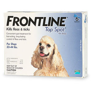 Frontline Top Spot, Dog 23-44 lbs (6 Doses) - Peazz.com