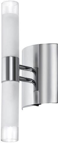 Dainolite 2 Lite Polished Chrome Wall Sconce Frosted Cylinder Glass 85035A-PC - Peazz.com