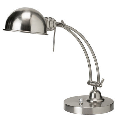 Dainolite Satin Chrome Pharmacy Table Lamp Adjustable Arm DM1958-SC - Peazz.com