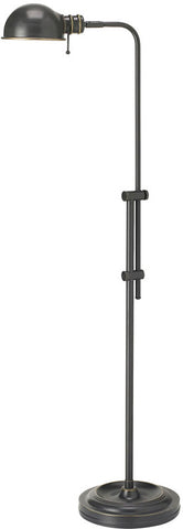 Dainolite Oil Brushed Bronze Pharmacy Floor Lamp Adjustable Arm DM1958F-OBB - Peazz.com