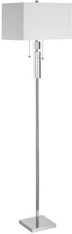 Dainolite 2 Lite Acrylic With Polished Chrome Floor Lamp DM231F-PC - Peazz.com