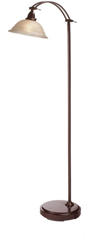 Dainolite Expresso Metal Construction Floor Lamp Champagne Frosted Glass DM314F-ES - Peazz.com