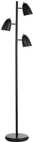 Dainolite Black 3 Head Adjustable Floor Lamp DM330F-BK - Peazz.com