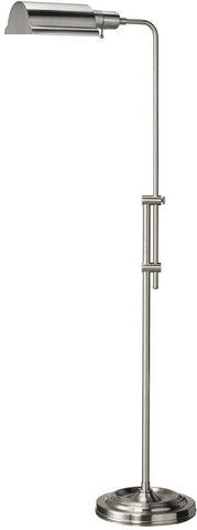 Dainolite Satin Chrome Adjustable Height Floor Lamp DM450F-SC - Peazz.com
