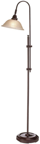 Dainolite Espresso Metal Construction Floor Lamp Champage Frosted Glass Shade DM824F-ES - Peazz.com