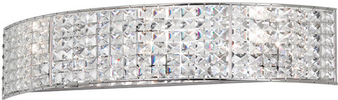 Dainolite 4 Lite Polished Chrome Vanity Clear Crystal V677-4W-PC - Peazz.com
