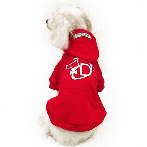 Hooded Dog Sweatshirts Red