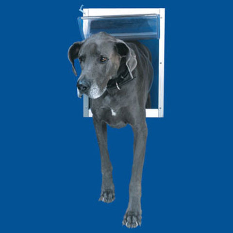 Ideal Pet Door Deluxe White Dog Door Xx-Large - Peazz.com