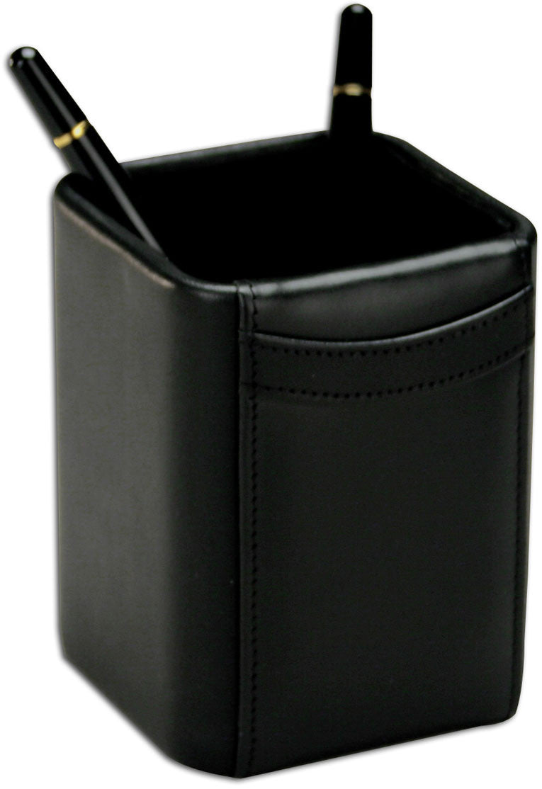 Square Leather Pencil Cup A1010 by Decasso DEC-A1010