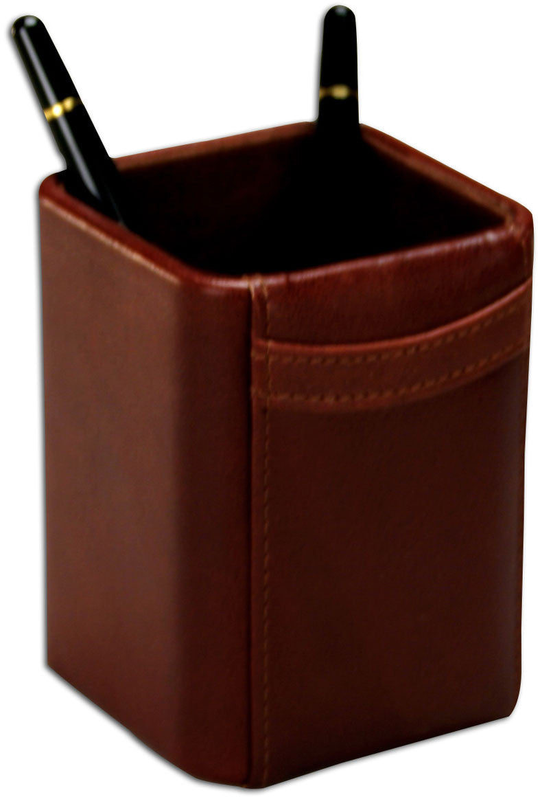 Square Leather Pencil Cup A3010 by Decasso