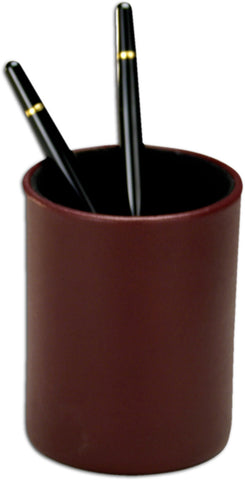 Burgundy Leather Round Pencil Cup A7010 by Decasso - Peazz.com