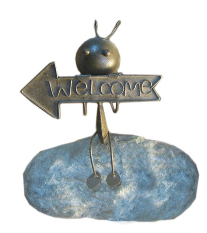 Deeco Consumer Products DM-004-SA Stone Welcome Ant - Peazz.com