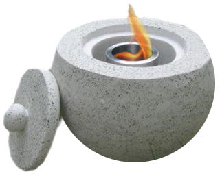 Deeco Consumer Products DM-013-FB Terrazzo Fire Pot - Peazz.com